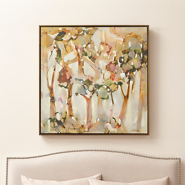 Reflection Abstract Tree Painting Crate And Barrel