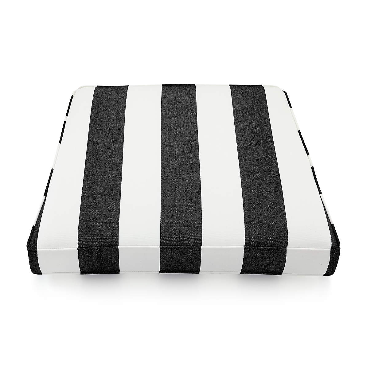 Regatta Cabana Stripe Black Sunbrella Lounge Chair Cushions Crate And Barrel