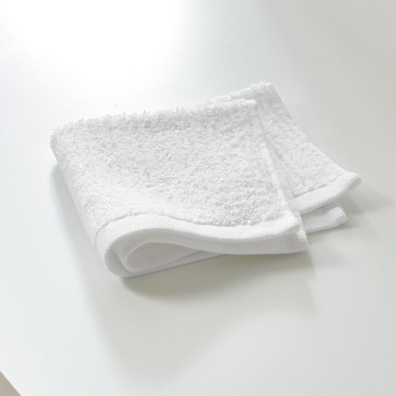 Ribbed White Washcloth Reviews Crate And Barrel