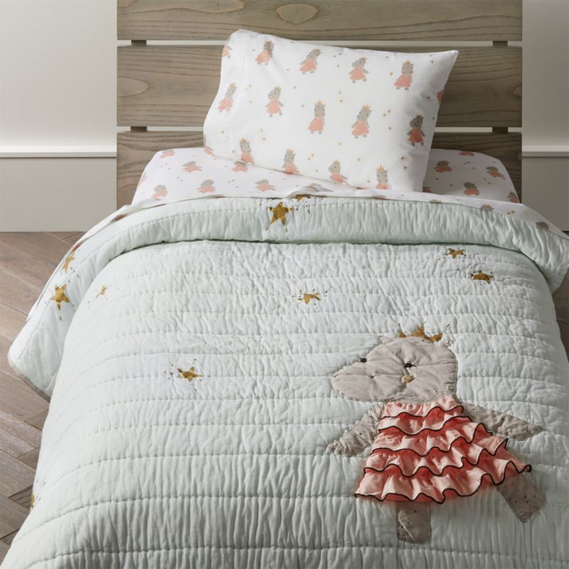 Royal Hippo Toddler Bedding Crate And Barrel