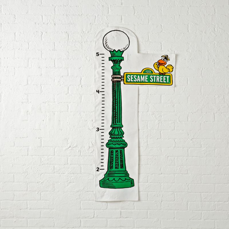 Sesame Street Sign Growth Chart Reviews Crate And Barrel