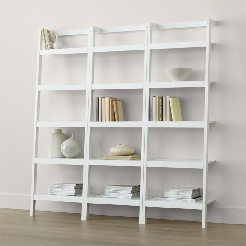 Sawyer White Leaning 245 Bookcases Set Of Three
