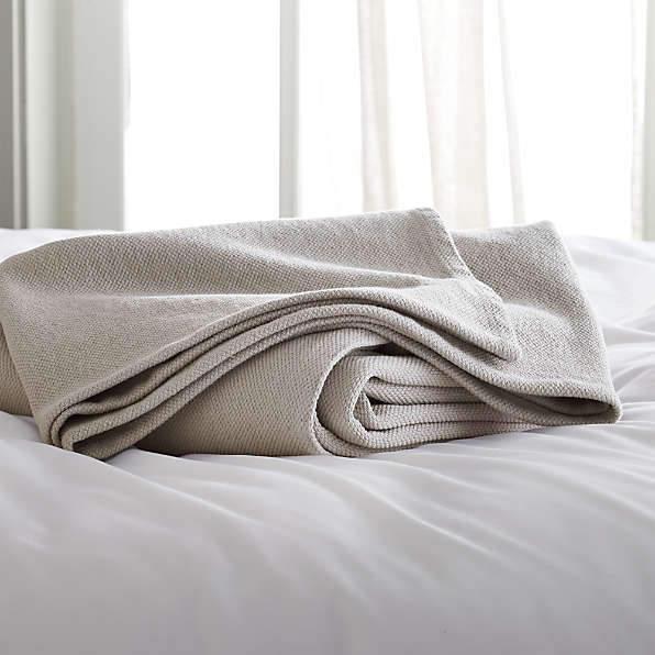 cotton blankets crate and barrel