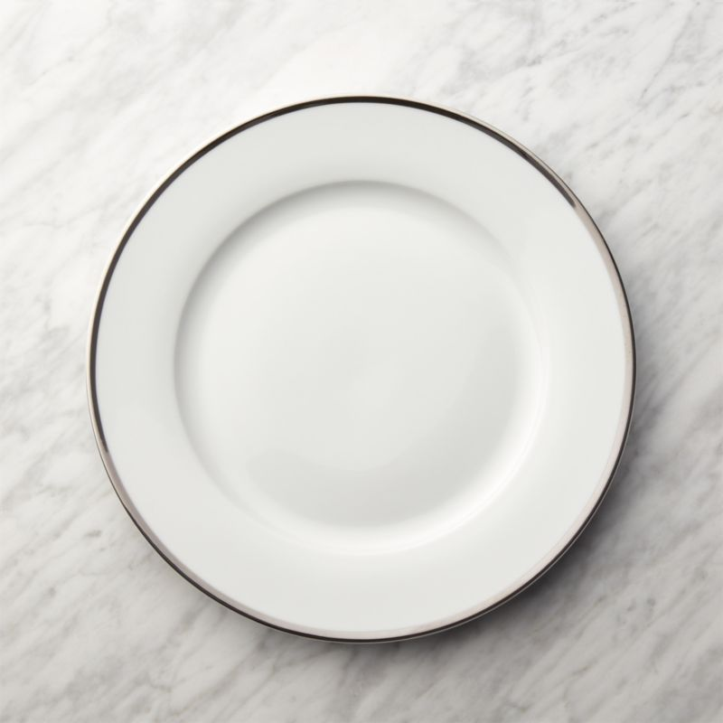Silver Rim Buffet Plate Reviews Crate And Barrel