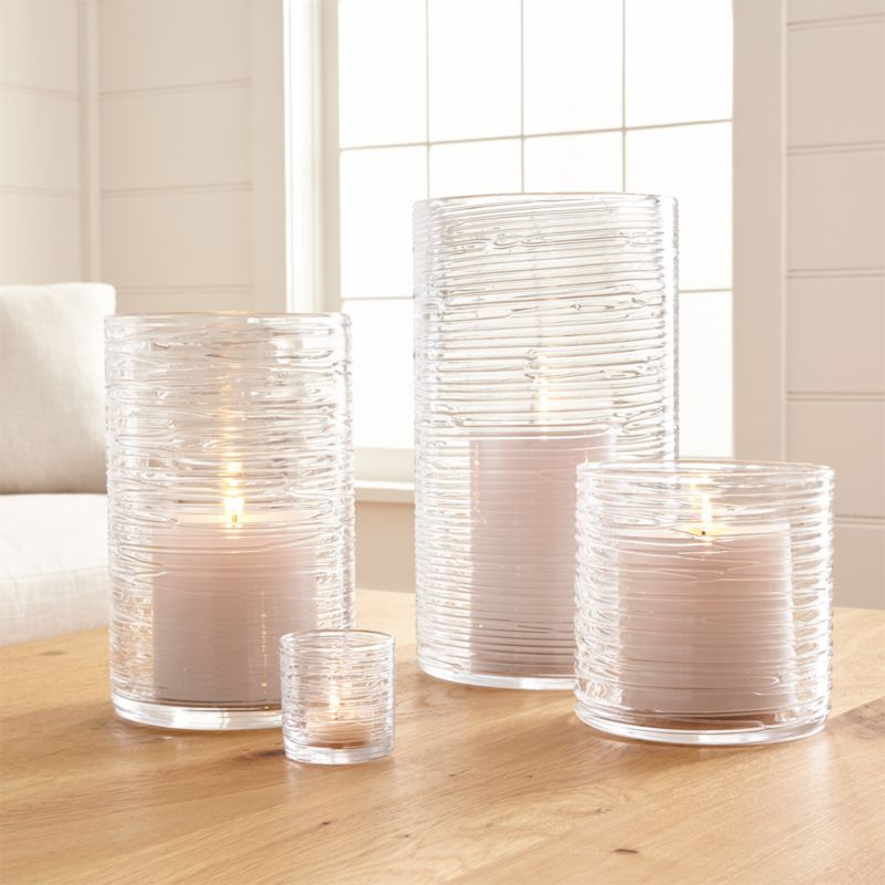 Spin Glass Hurricane Candle HoldersVases Crate And Barrel