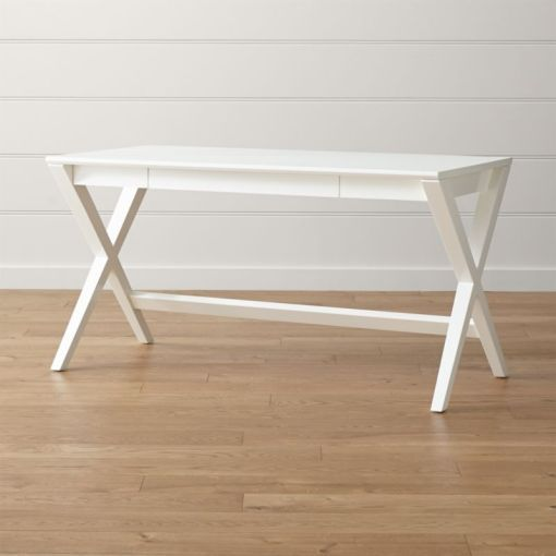Spotlight White X Leg Desk 58    Reviews   Crate and Barrel