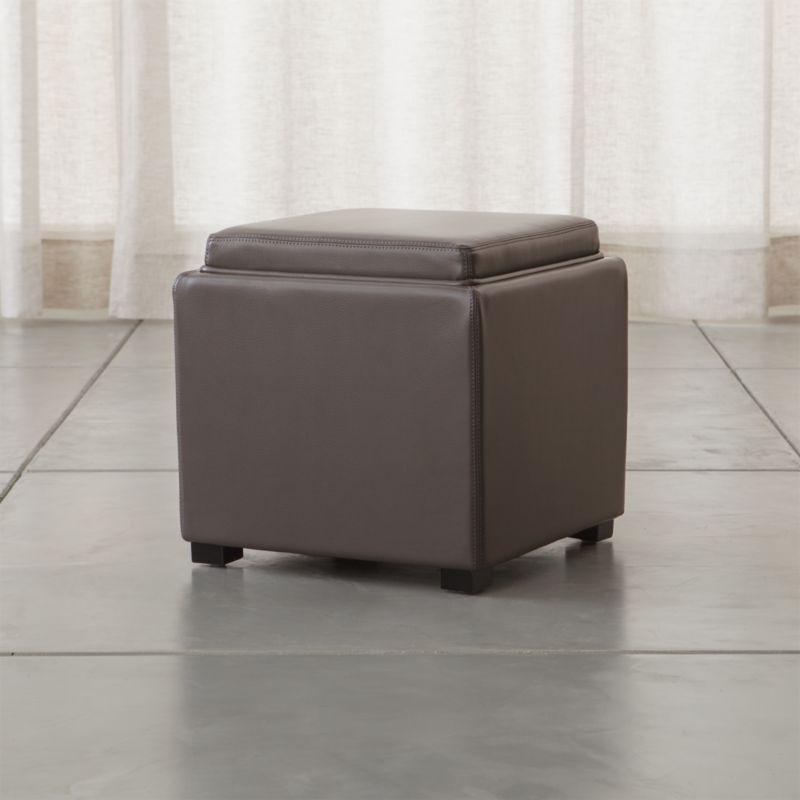 Storage Cube Ottoman Tray