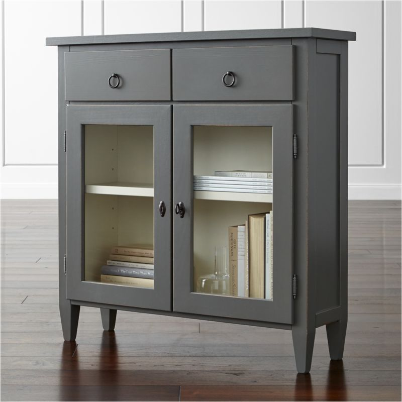 Stretto Grey Entryway Cabinet Reviews Crate And Barrel