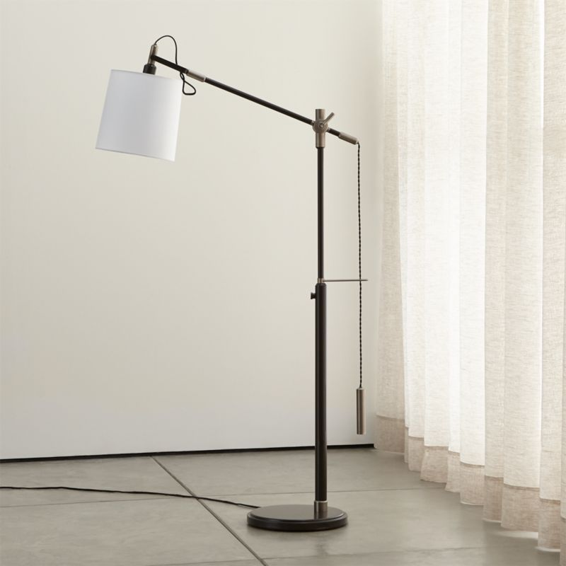 Sylvester Adjustable Floor Lamp Reviews Crate And Barrel