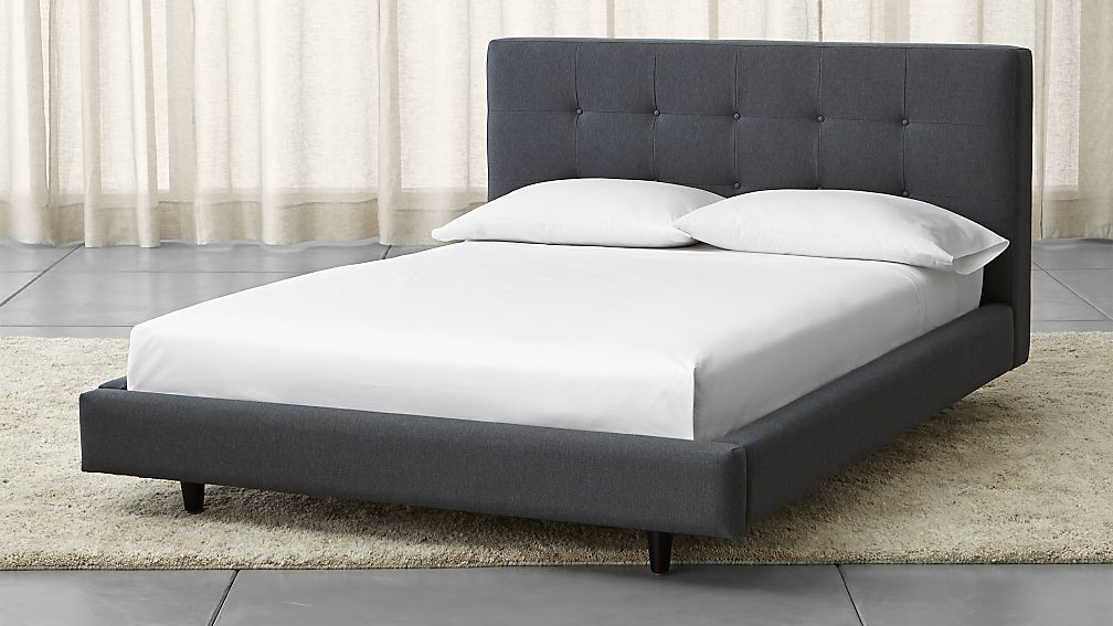 Tate Upholstered Full Bed Crate And Barrel