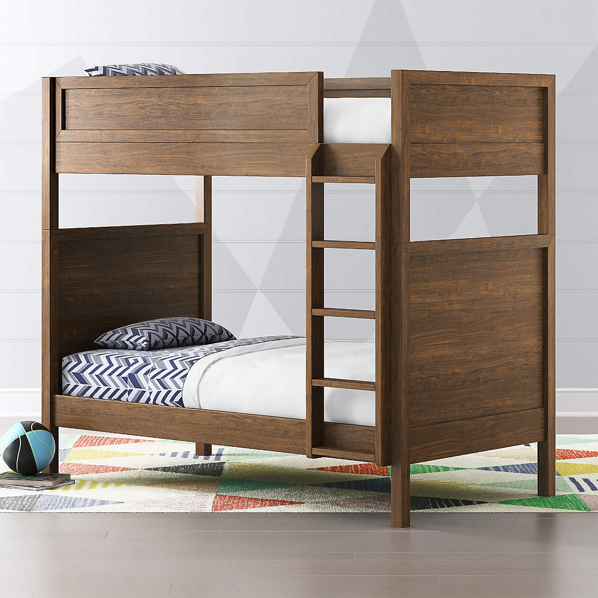 Taylor Twin Walnut Convertible Bunk Bed Reviews Crate And Barrel