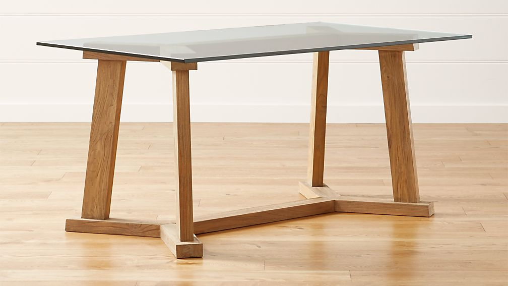 """Teak Reclaimed Wood Dining Table With 60""""x36"""" Rectangular"""