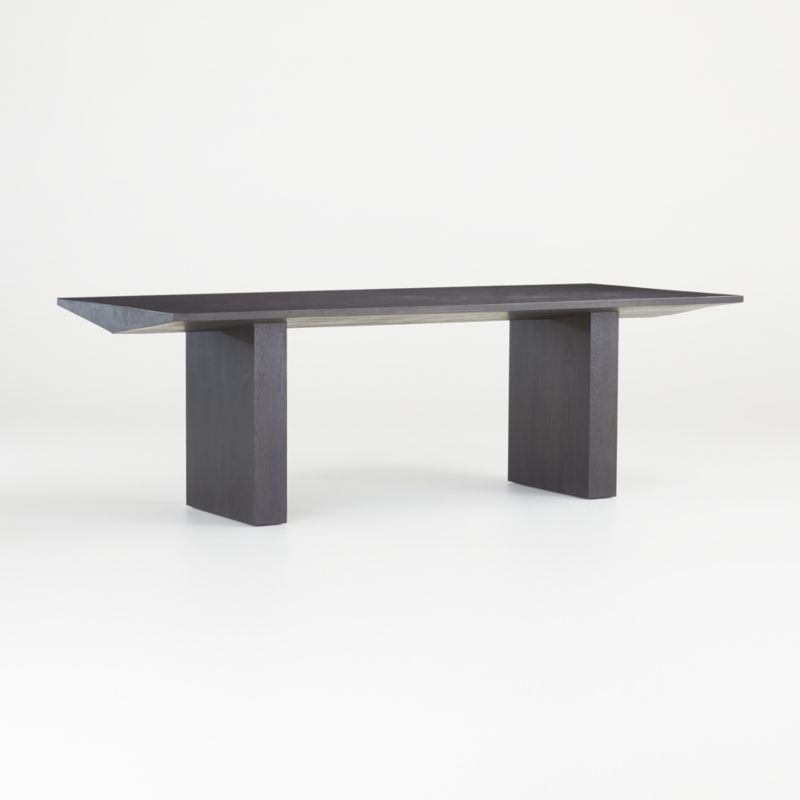 van charcoal wood dining table reviews crate and barrel