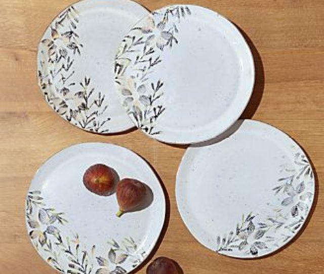 Viola Salad Plates Set Of