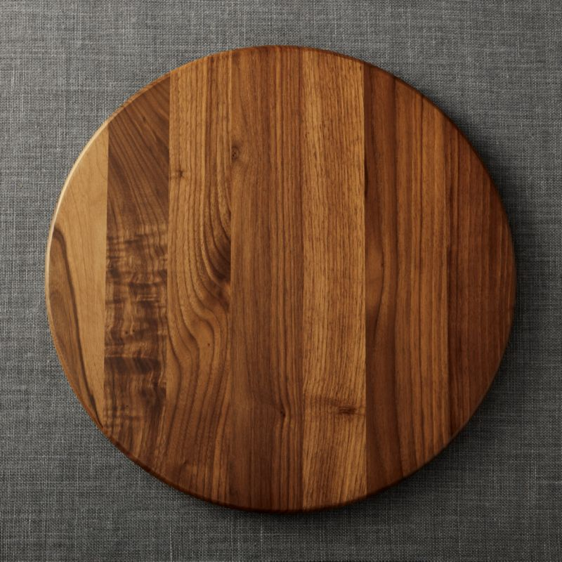Walnut Lazy Susan 18 Crate And Barrel