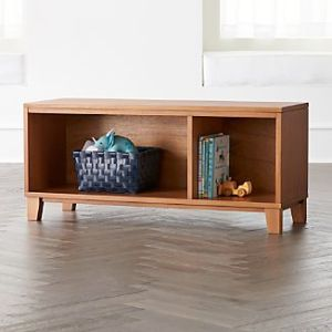 Entryway Shelves   Crate and Barrel District 2 Cube Wood Stackable Bookcase