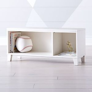 Entryway Shelves   Crate and Barrel District 2 Cube White Stackable Bookcase