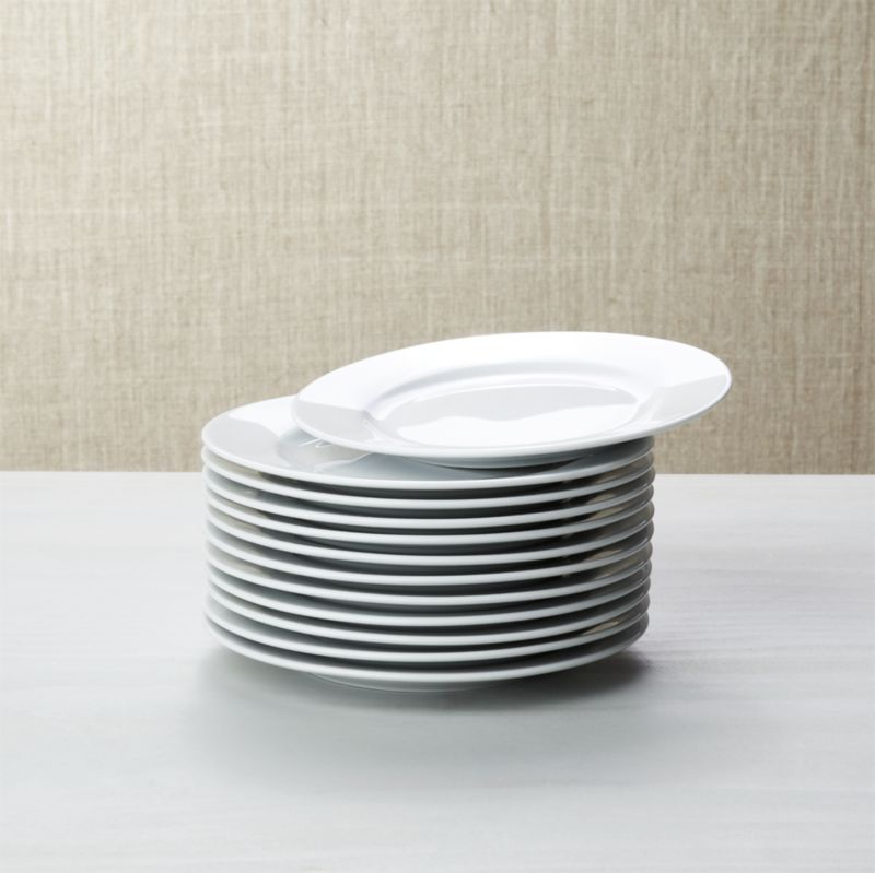 White Porcelain Round Appetizer Plates Set Of 12 Crate