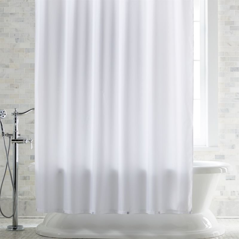 White Shower Curtain Liner With Magnets Reviews Crate And Barrel