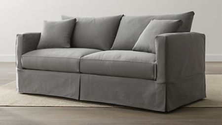Sofa Beds and Sleeper Sofas  Save 20    Crate and Barrel Willow Modern Slipcovered Queen Sleeper Sofa
