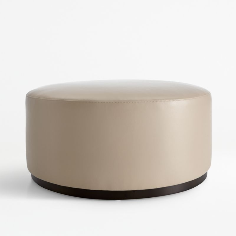 zoey leather cocktail ottoman reviews crate and barrel