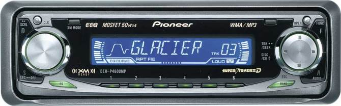 pioneer dehp4600mp cd/mp3/wma receiver with cd changer