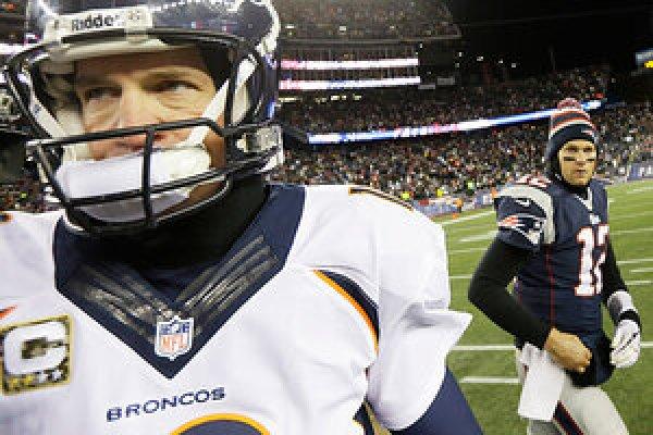 Image result for peyton manning Tom Brady Playoffs