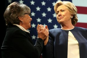 Barbara Boxer with Hillary Clinton (Reuters photo)