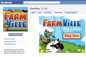 Farmville Facebook Game Play