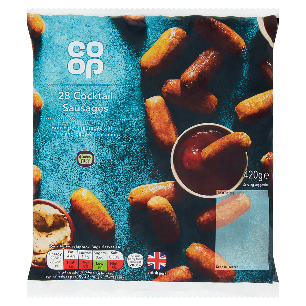 Co-op Cocktail Sausages 420g - Gluten Free