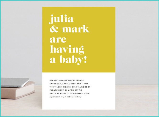 20 Unique Baby Shower Invitations