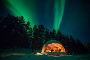 Clear Igloo Northern Lights