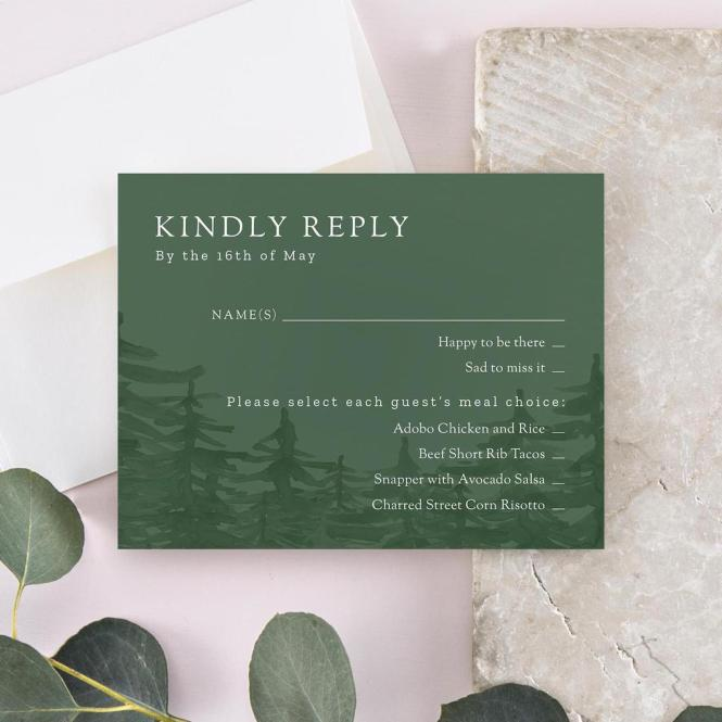 A Guide To Wedding Invitation Rsvp Cards Zola Expert