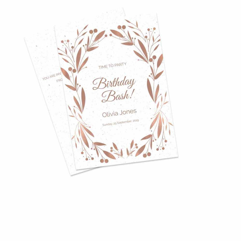 birthday invitations personalised by