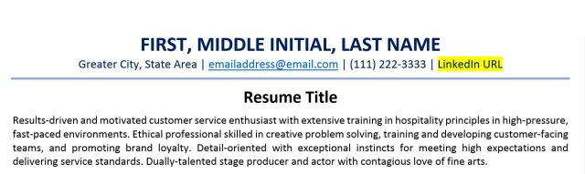 How to Include a LinkedIn URL on Your Resume (+ Examples)  ZipJob