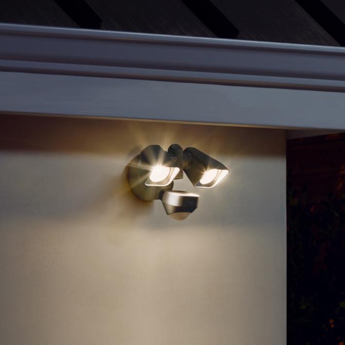 smart lighting floodlight wired