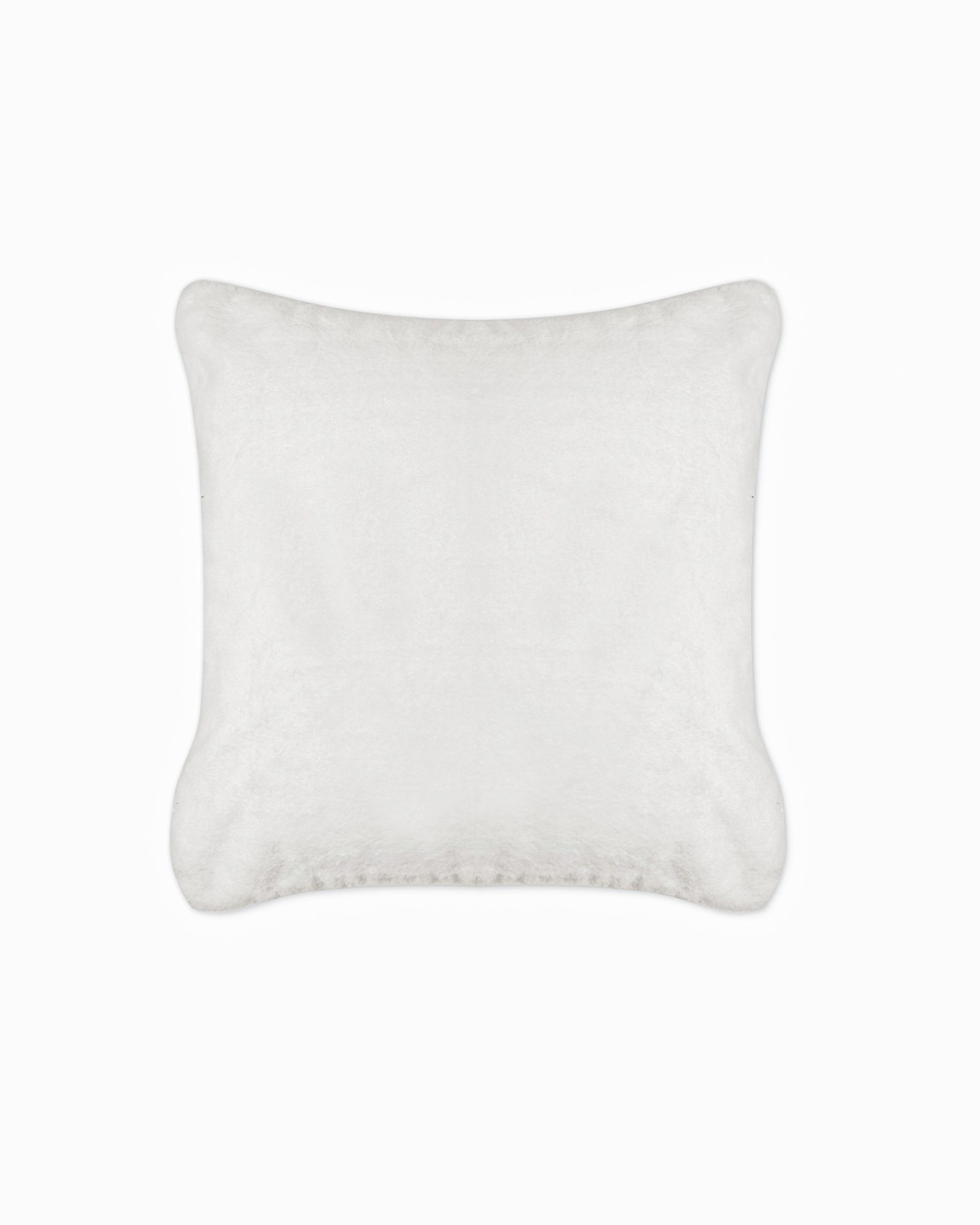 plush recycled faux fur pillow cover
