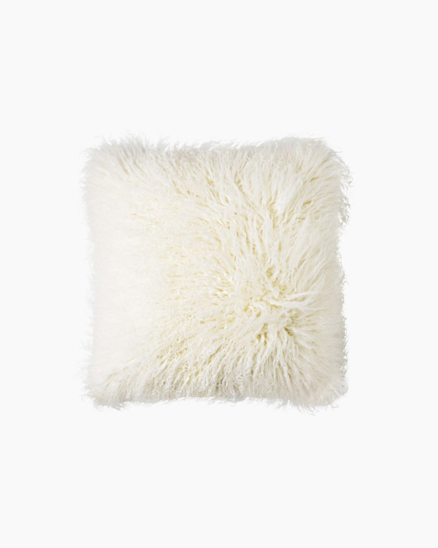 luxe mongolian lamb pillow cover