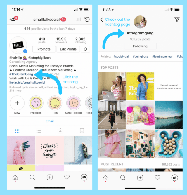 How to Add Username & Hashtag Links to Your Instagram Bio