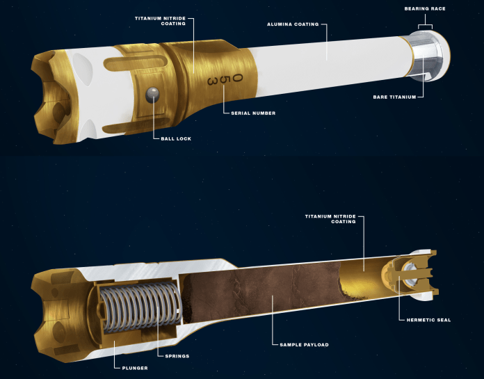 It all comes down to the Mars samples that Perseverance will seal into these 15-centimeter-long titantium tubes and set aside for return to Earth. (Credit: NASA/JPL-Caltech)