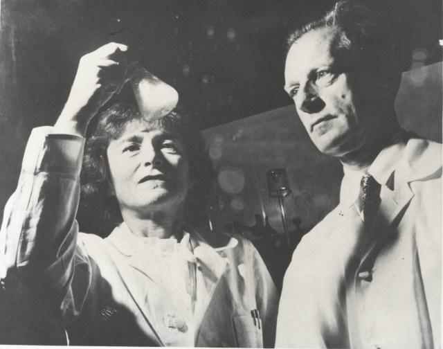 The husband-wife duo (Gerty Cori & Carl Cori) at their lab in Washington School of Medicine