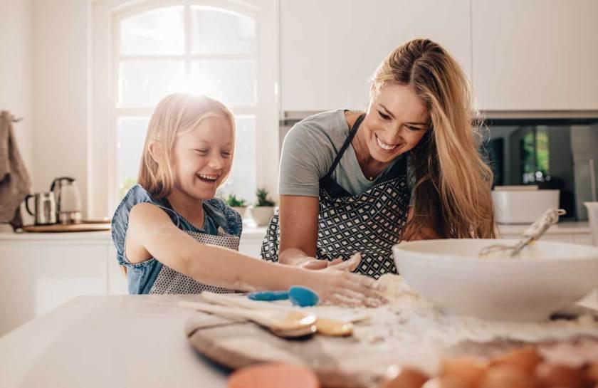 Baking in Kitchebn