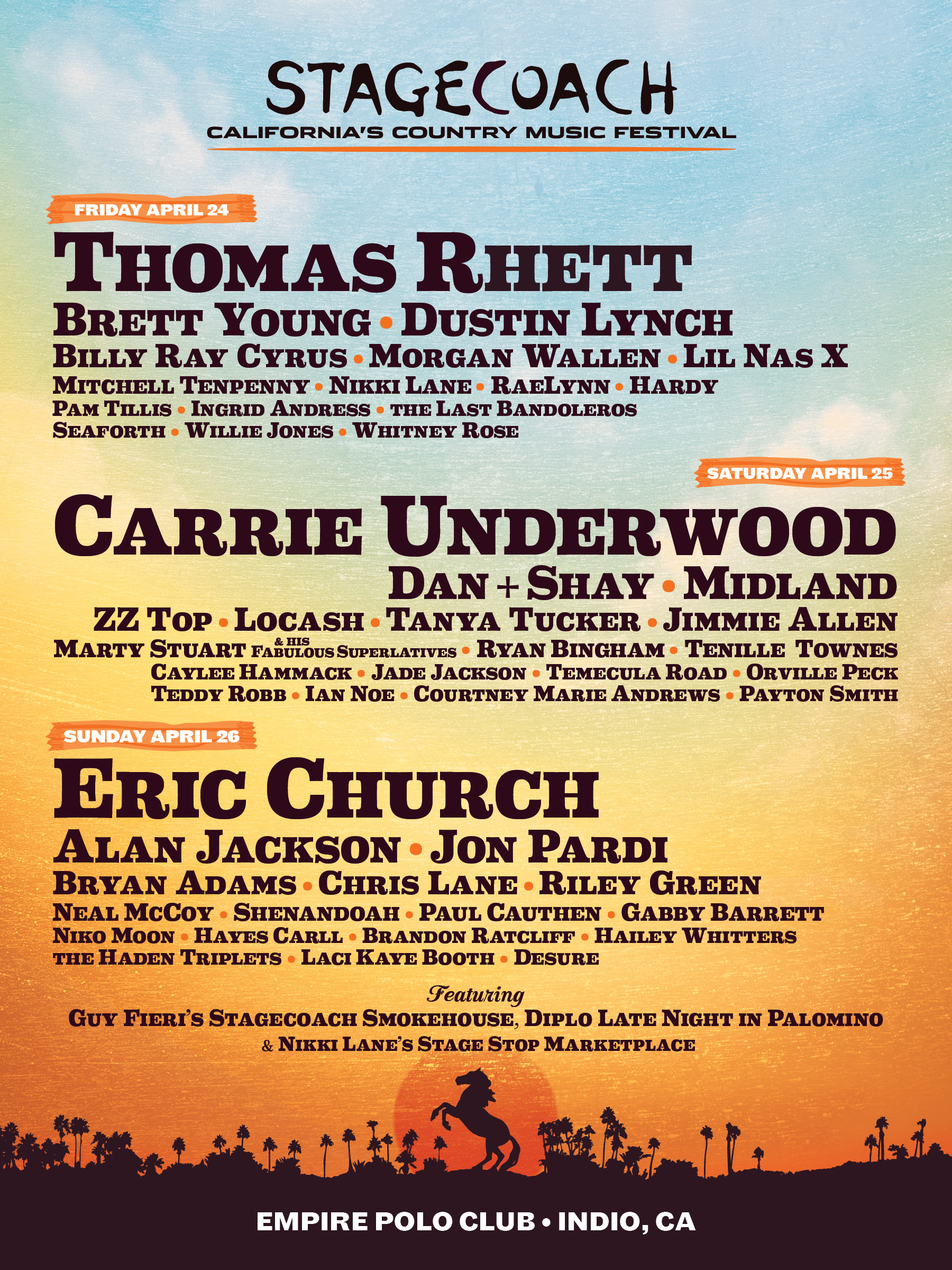 2020 Stagecoach Festival to Feature Exciting Lineup of Country Artists 1