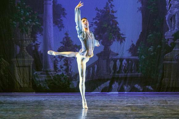 Barton pictured during a ballet performance.
