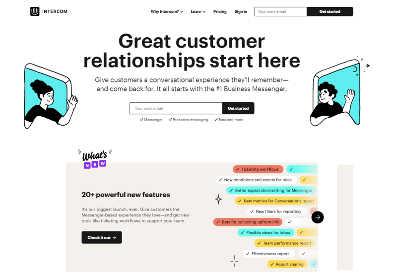 intercom home page