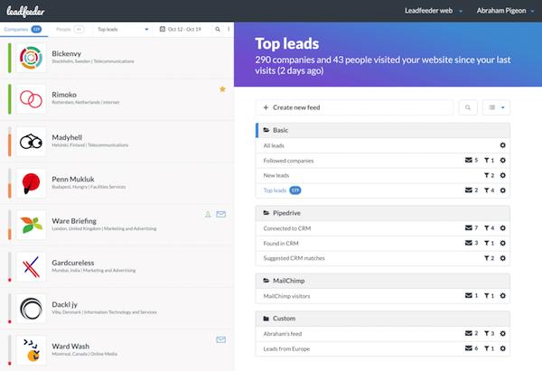 top lead generation tools leadfeeder