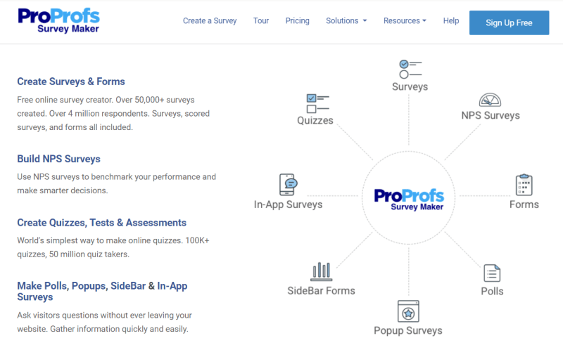 proprofs home page