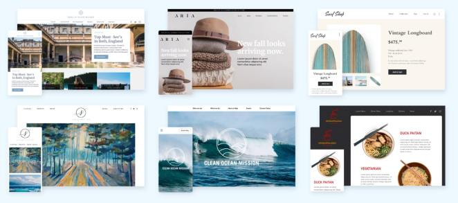 Bluehost Website themes