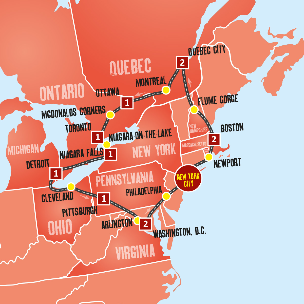 Eastern Us Holidays Canadian Vacation Packages