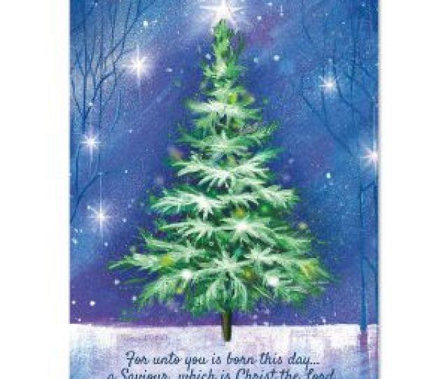 Winter Tree Religious Christmas Cards